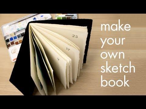 Make a pamphlet stitch watercolour sketchbook
