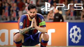 🔥 FIFA 21 NEXT GEN | Barcelona vs PSG - Champions League Final ● Broadcast Camera Gameplay | PS5