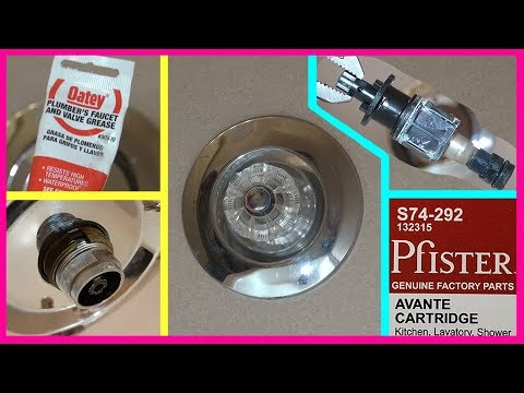 How to replace PRICE PFISTER Shower Faucet Cartridge. Ремонт крана в душе