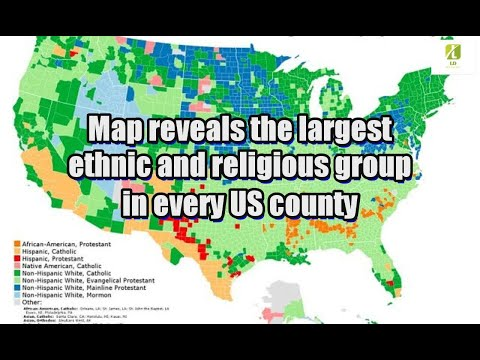Map reveals the largest ethnic and religious group in every US county