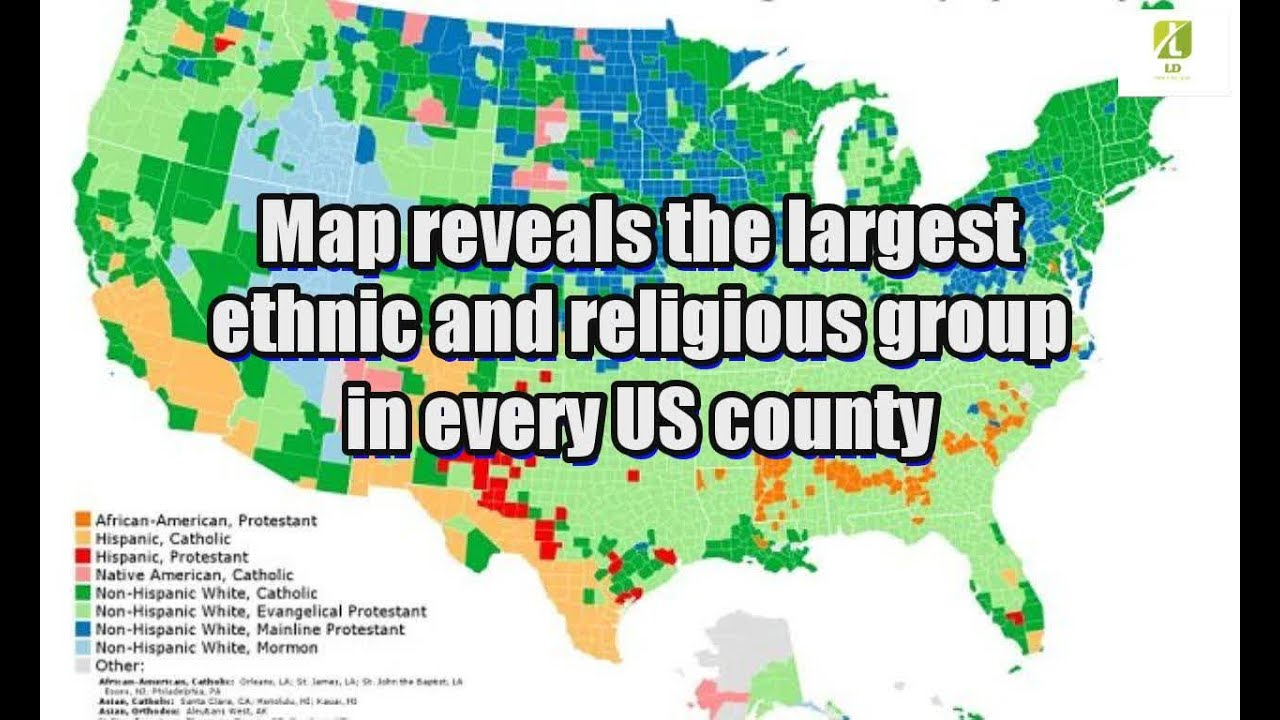 Map Reveals The Largest Ethnic And Religious Group In Every Us