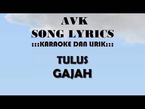 Tulus - Gajah [Acoustic Version] Karaoke dan Lirik
