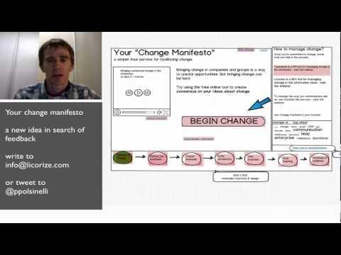 Your Change Manifesto - A New Service Idea
