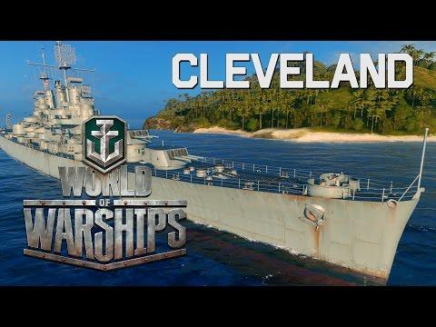 World of Warships - Cleveland Circle Strafes