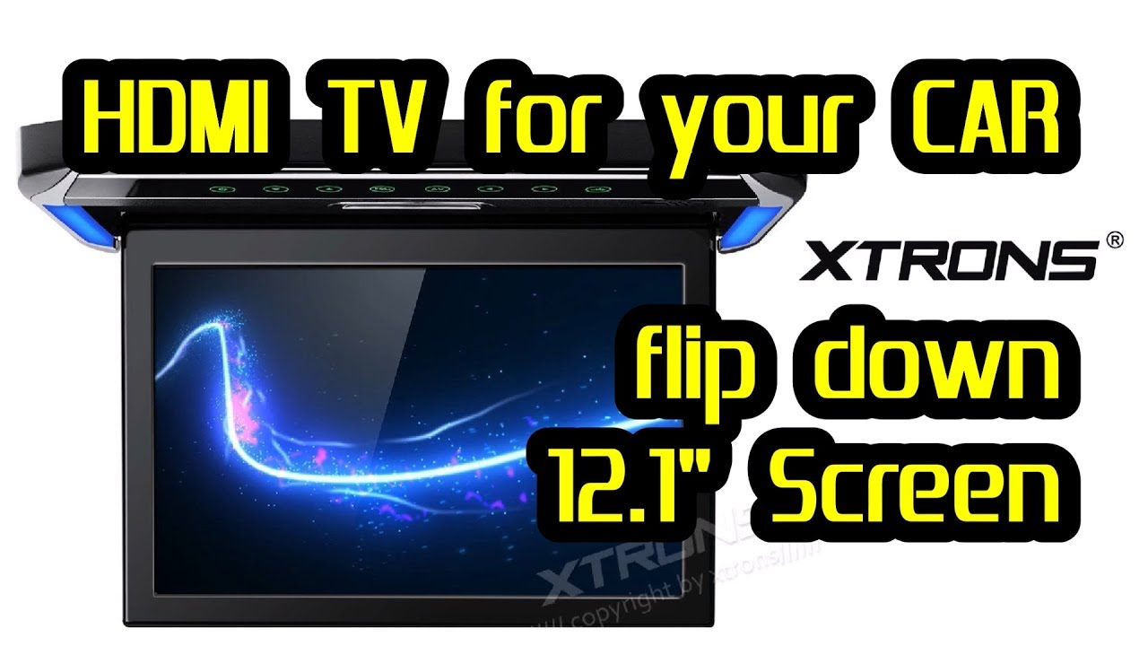 12.1/'/' Overhead Flip Down HD Monitor and Car Roof Video Player Entertainment