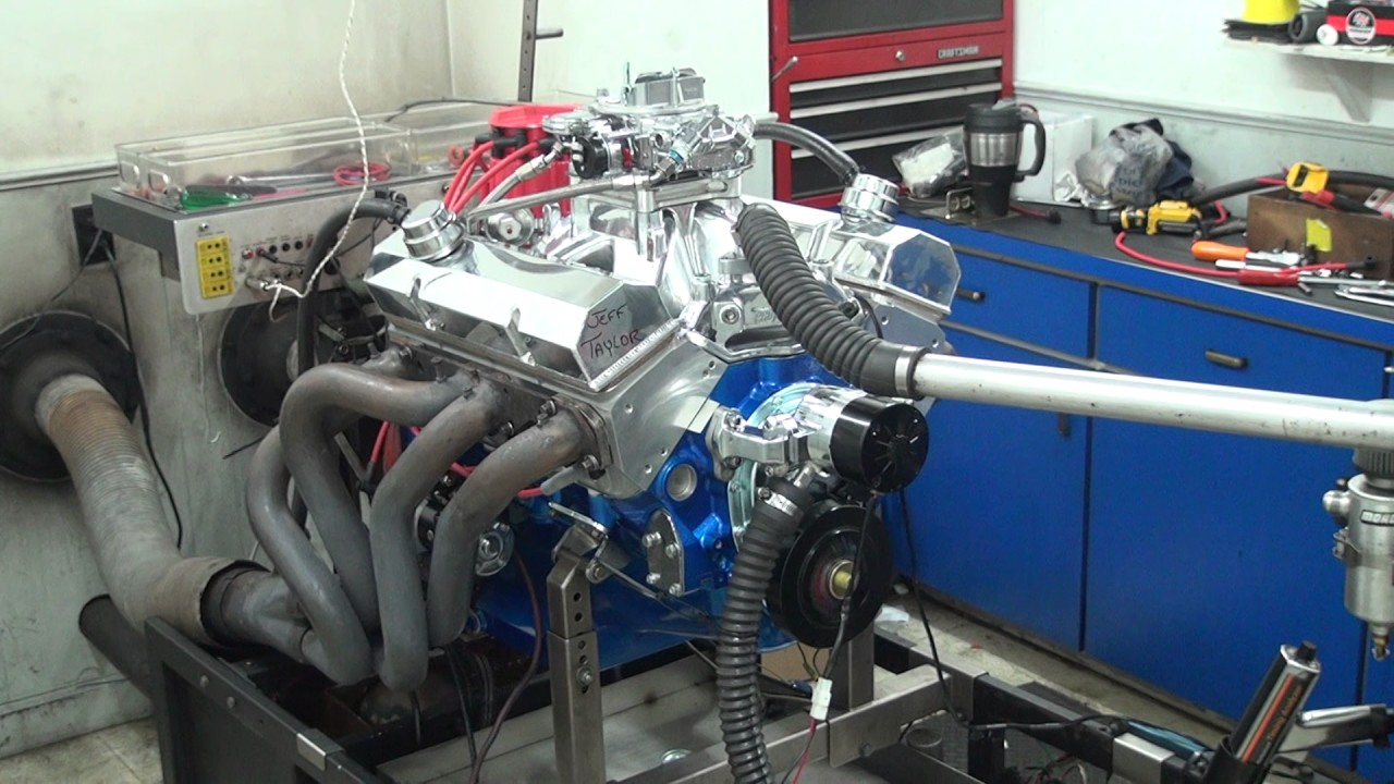 Sbc 493hp 406 engine dyno run for jeff taylor by white performance and machine