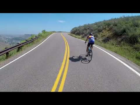 Riding my bike up and down Lookout Mountain in Golden, Colorado