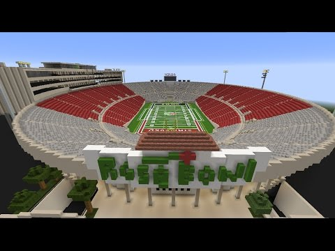 Rose Bowl Stadium - UCLA Bruins Football - Minecraft Creative Build