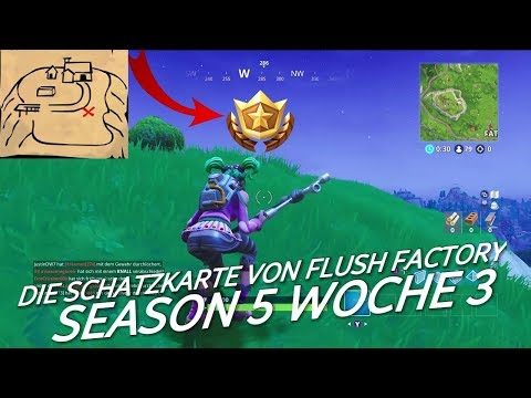 Folge Der Schatzkarte Aus Flush Factory / Season 5 Woche 3 / Fortnite Battle Royale
