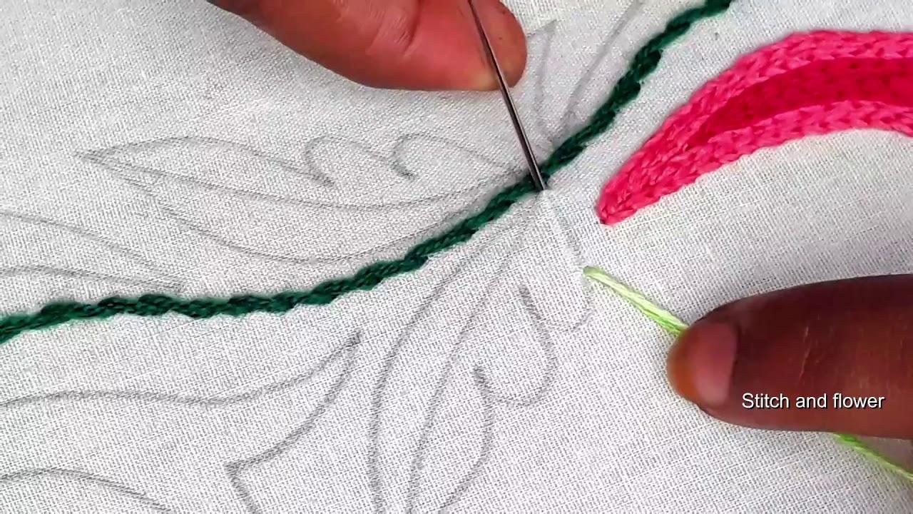 Hand embroidery amazing border design 20