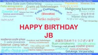 JB   Languages Idiomas - Happy Birthday