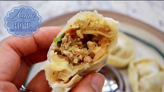 Kimchi Mandu Recipe : Korean Kimchi Dumplings 김치만두 만들기