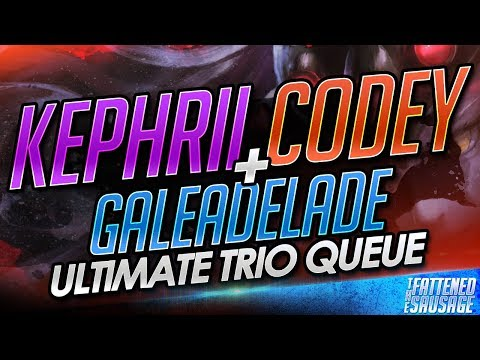 Kephrii Codeyniku & GaleAdelade ON THE SAME TEAM! Ultimate Trio Queue POPS OFF