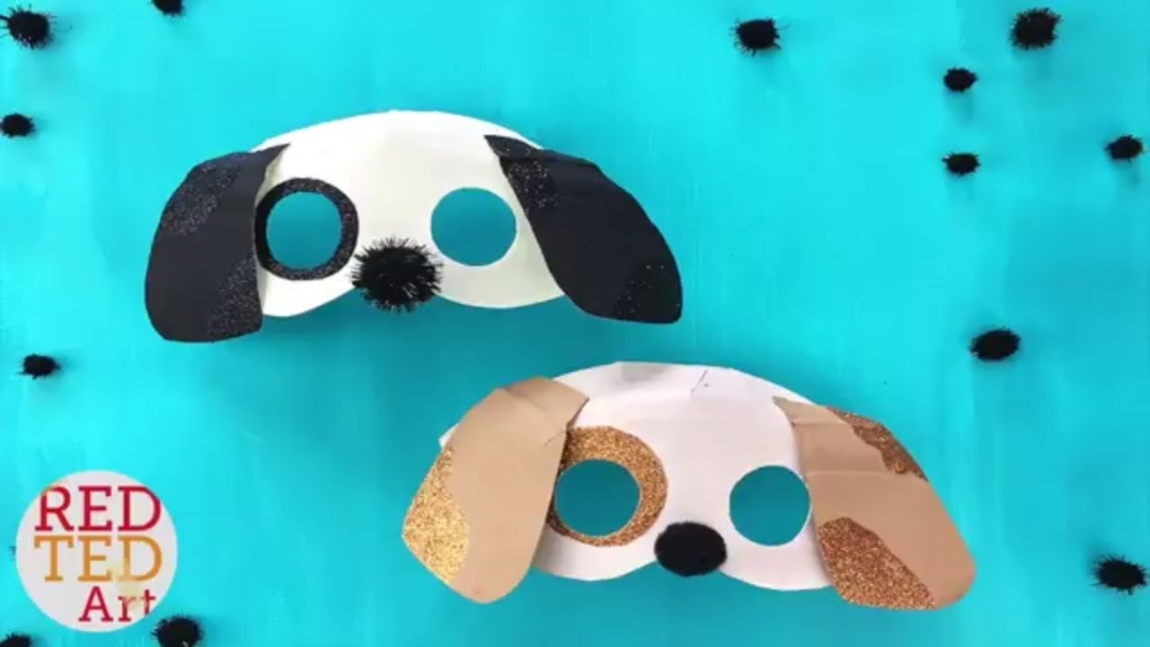 Easy Dog Mask DIY Year of the Dog Crafts for Kids Paper Plate Masks ...