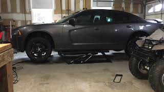 Quick Jack Demonstration - Lifting a Dodge Charger