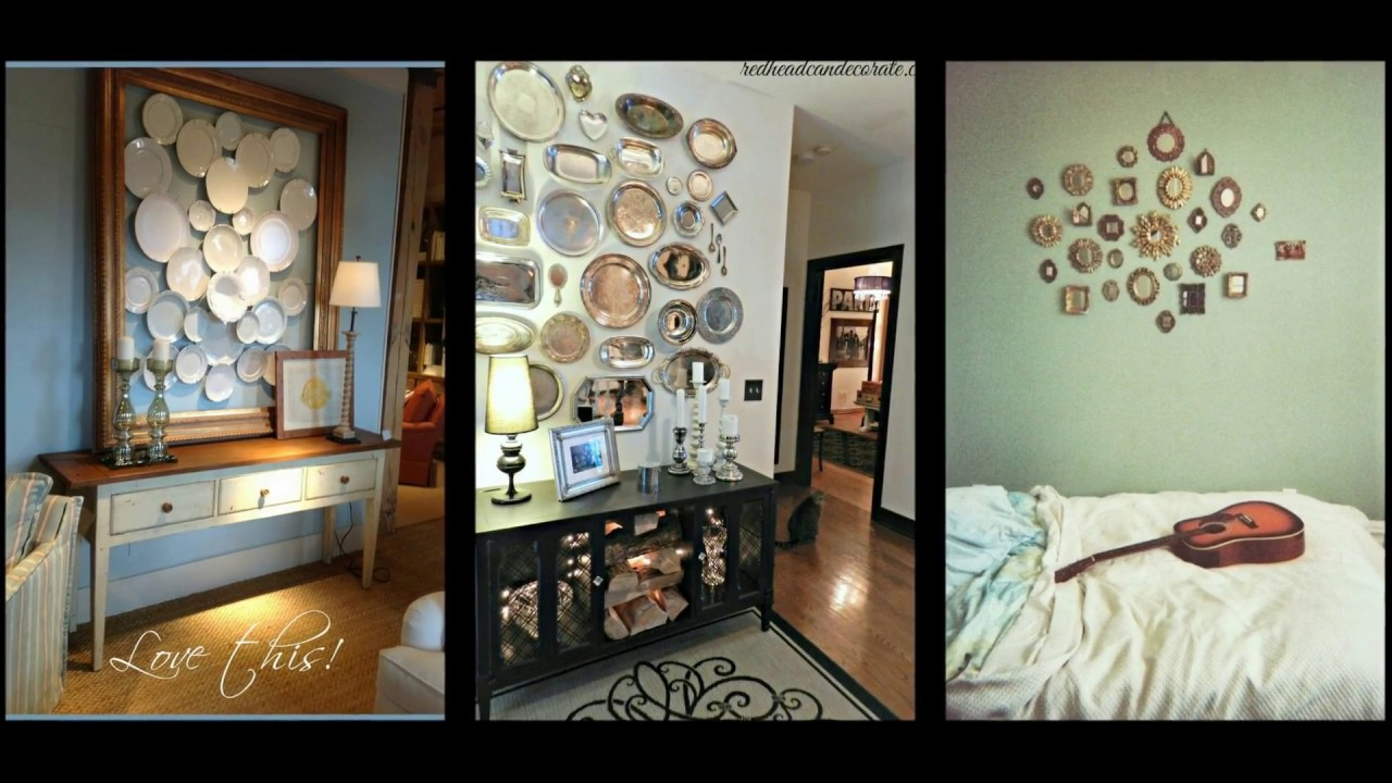 Creative room decorating ideas diy wall decor youtube for Art decoration ideas for room