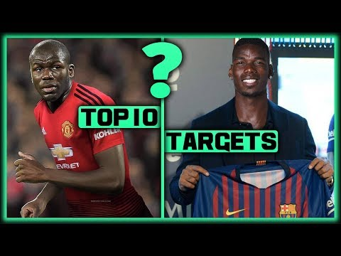 TRANSFER NEWS! Top 10 January Transfer Targets 2019 ft Pogba & Koulibaly