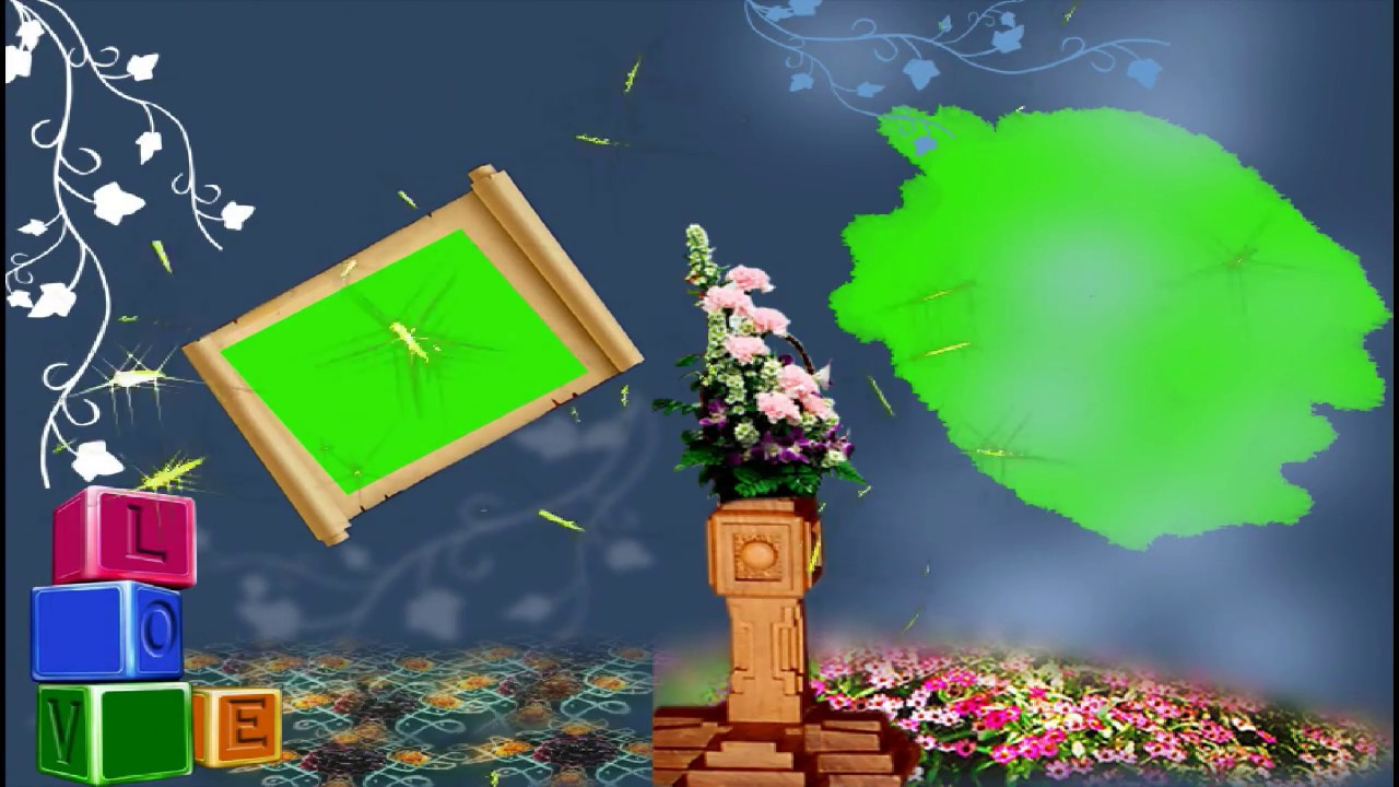 Wedding Frame Green Screen Motion Background Video Effects