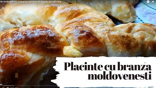 Placinte moldovenesti cu branza spiralate.Moldovan pie with feta.