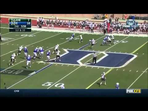 Anthony Boone - Duke Football - QB - 2014 Tulane Game