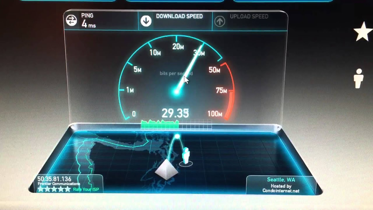 Frontier Speed Test >> Frontier Fios 30 30 Speedtest Youtube