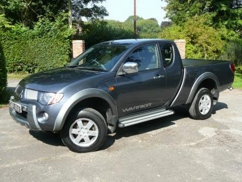 2007 57 mitsubishi l200 warrior club cab 2 5 did manual in grey with leather and armadillo youtube. Black Bedroom Furniture Sets. Home Design Ideas