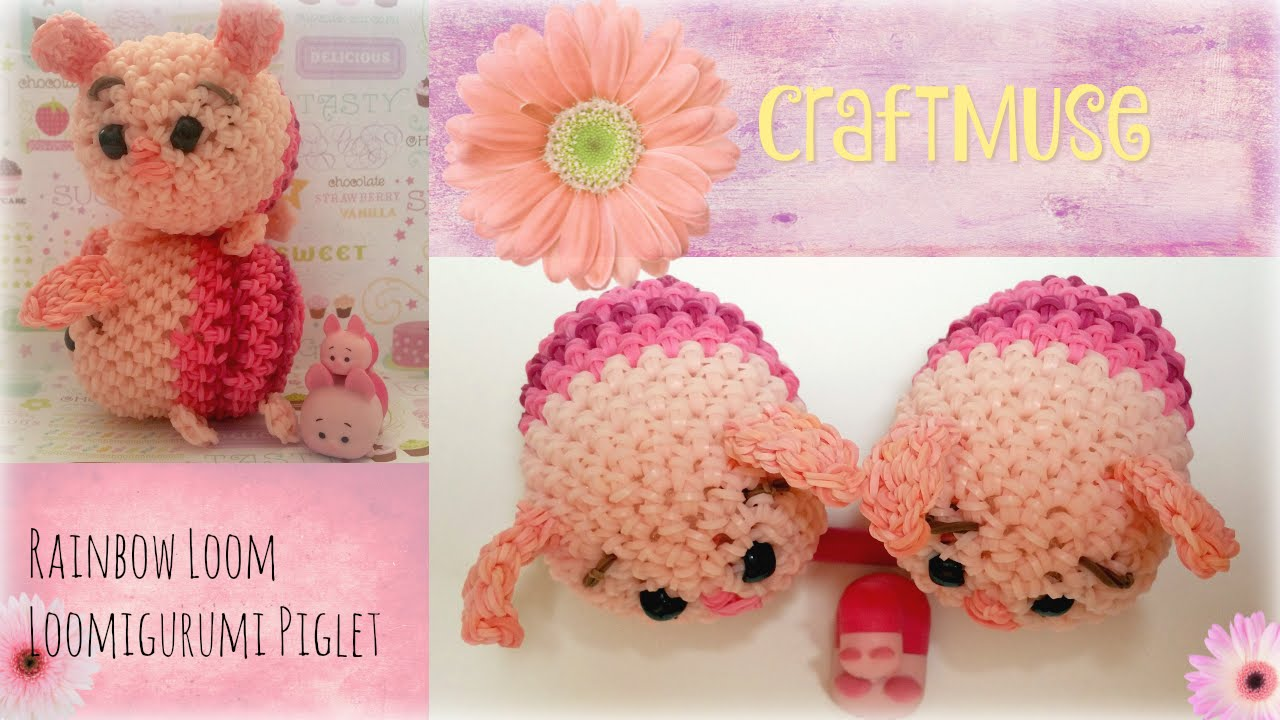 Tsum Tsum Amigurumi Pattern Free : Rainbow loom loomigurumi piglet inspired by tsum tsum youtube