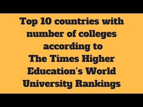 Top 10 countries with highest number of colleges ranked below 200