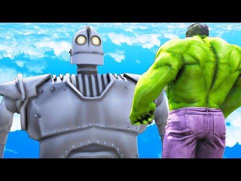 THE HULK VS IRON GIANT - BIG HULK VS THE IRON GIANT (1999)