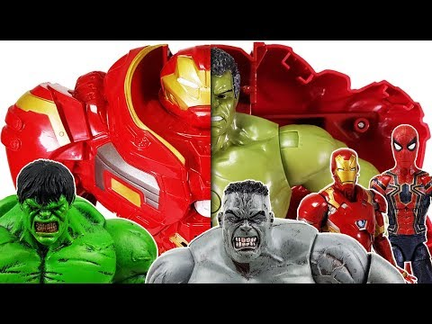 Hulk & Hulkbuster, Defeat the Villains! Avengers Go~! Spider-man, Thor, Iron Man, Captain America
