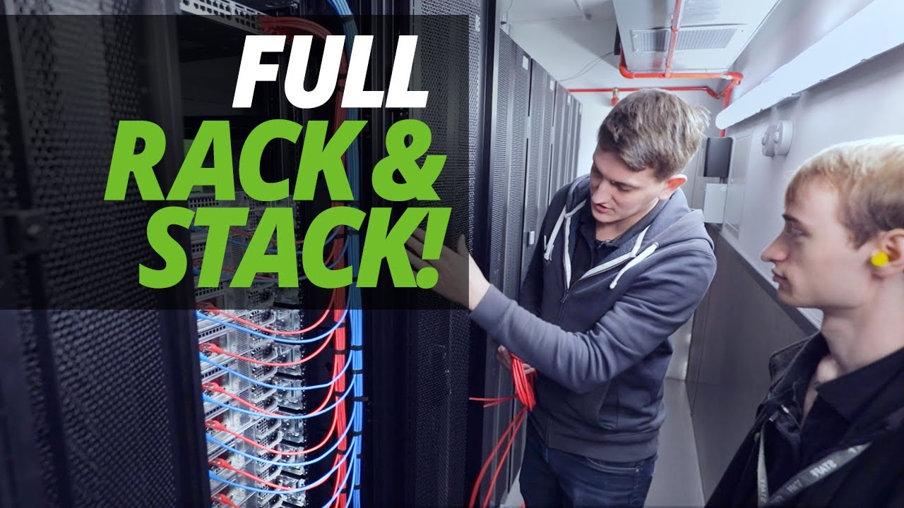 a day in the life of the data centre full customer rack stack with ash james