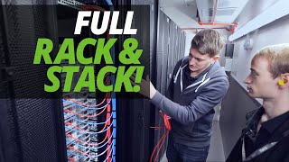 "A DAY in the LIFE of the DATA CENTRE | FULL CUSTOMER ""RACK & STACK"" with ASH & JAMES!"