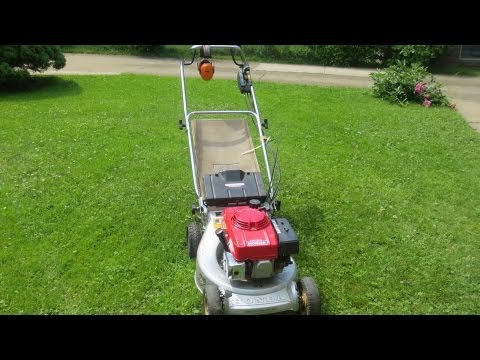 honda hr194 mower startup and mowing youtube. Black Bedroom Furniture Sets. Home Design Ideas