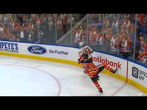 McDavid rockets straight down ice for second goal against Flames