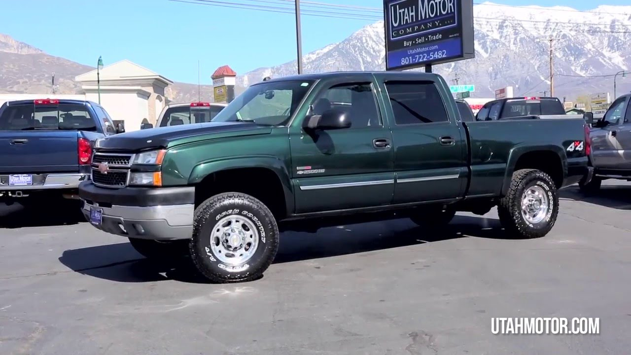 2005 chevrolet silverado 2500 ls 6 6l turbo diesel engine utah motor company llc 801 722 5482 youtube