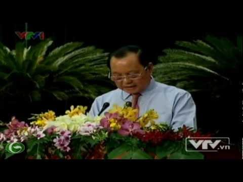 Ông Lê Thanh Hải phát biểu trong buổi khai mạc kỳ họp hội đồng nhân dân TP