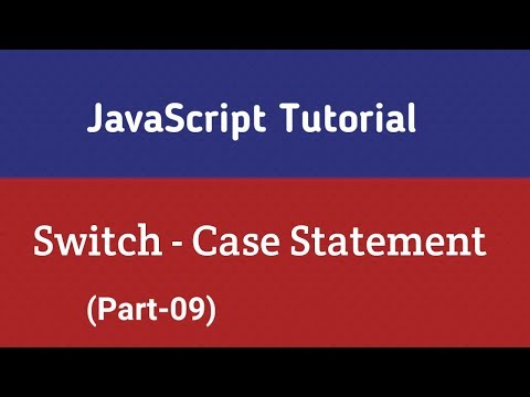 JavaScript Tutorial In Hindi   Switch case statements In JavaScript (Part-9) thumbnail