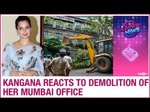 Kangana Ranaut responds to her Mumbai office getting DEMOLISHED by BMC staff