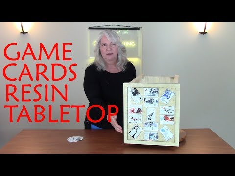 How To Embed Game Cards In Resin To Make A Custom Tabletop