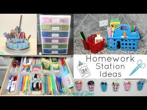 Back To School  Homework Station Ideas | ORGANIZATION | Mom Tips