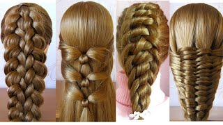 4 Most Beautiful Braided Hairstyles for girls | cool hairstyle | Coiffure avec tresse originale