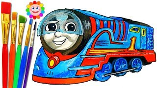 HOW TO DRAW TURBO THOMAS Trackmaster – Drawing Thomas and Friends TRAINS Video for KIDS