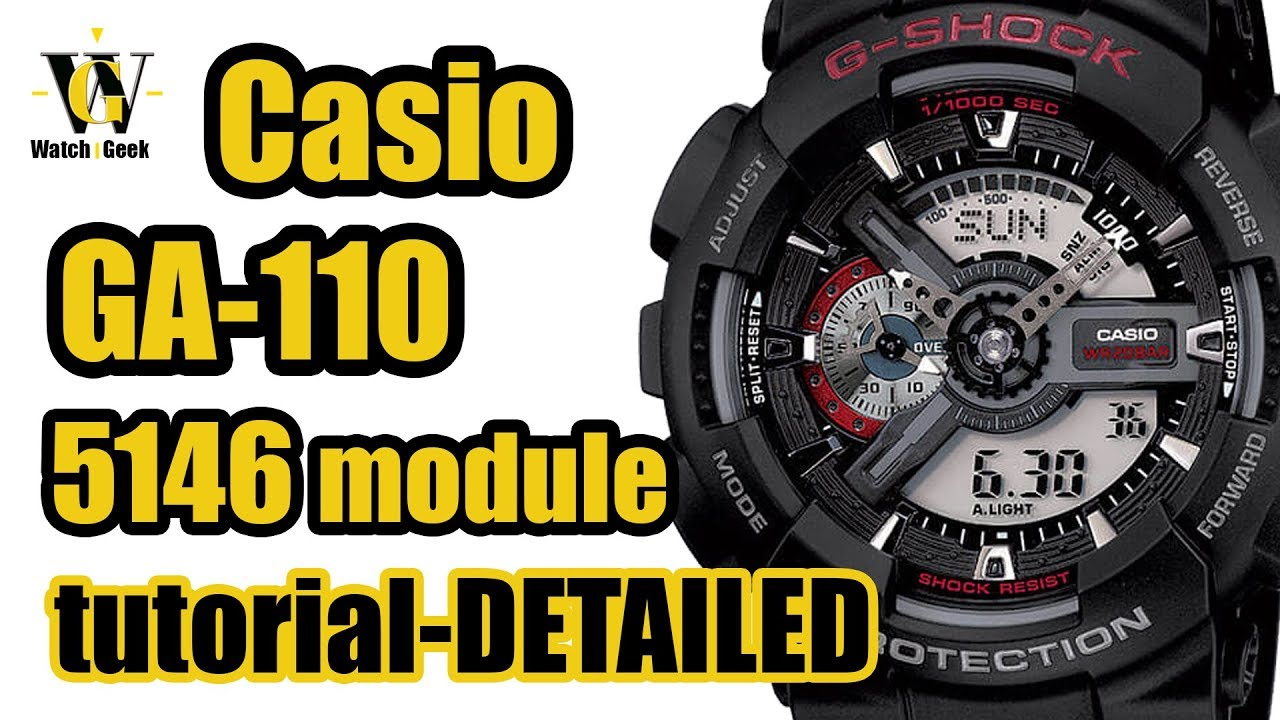 24cc2b93e4a1 GA 110 G shock Casio - module 5146 - review   detailed tutorial on how to  setup and use EVERYTHING