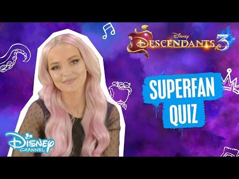 Descendants 3 | The Descendants Superfan Quiz Ft. Dove Cameron ❤️ | Disney Channel UK