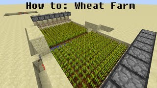 How to make the best Automatic Wheat farm in Minecraft 1.7.9