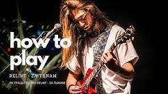 Relikt - Za tynam / За тынам (Guitar lesson by Vital Makshun)