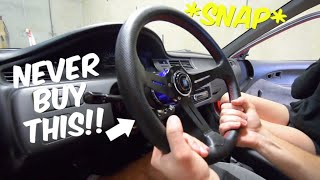 WISH Steering Wheel Install - EG Hatch