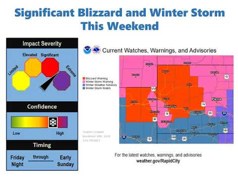 Post Thanksgiving Blizzard Over Western South Dakota And Northeastern Wyoming
