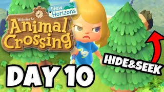 Let's Play Hide & Seek!! (IMPOSSIBLE SPOT!) - Animal Crossing: New Horizons Gameplay Day 10