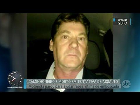 Caminhoneiro é morto por assaltantes em rodovia de São Paulo | SBT Brasil (19/04/18)